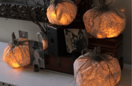 How to make a paper bag pumpkin light