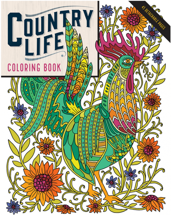 Double Giveaway- Country Life Coloring book and Greeting Cards