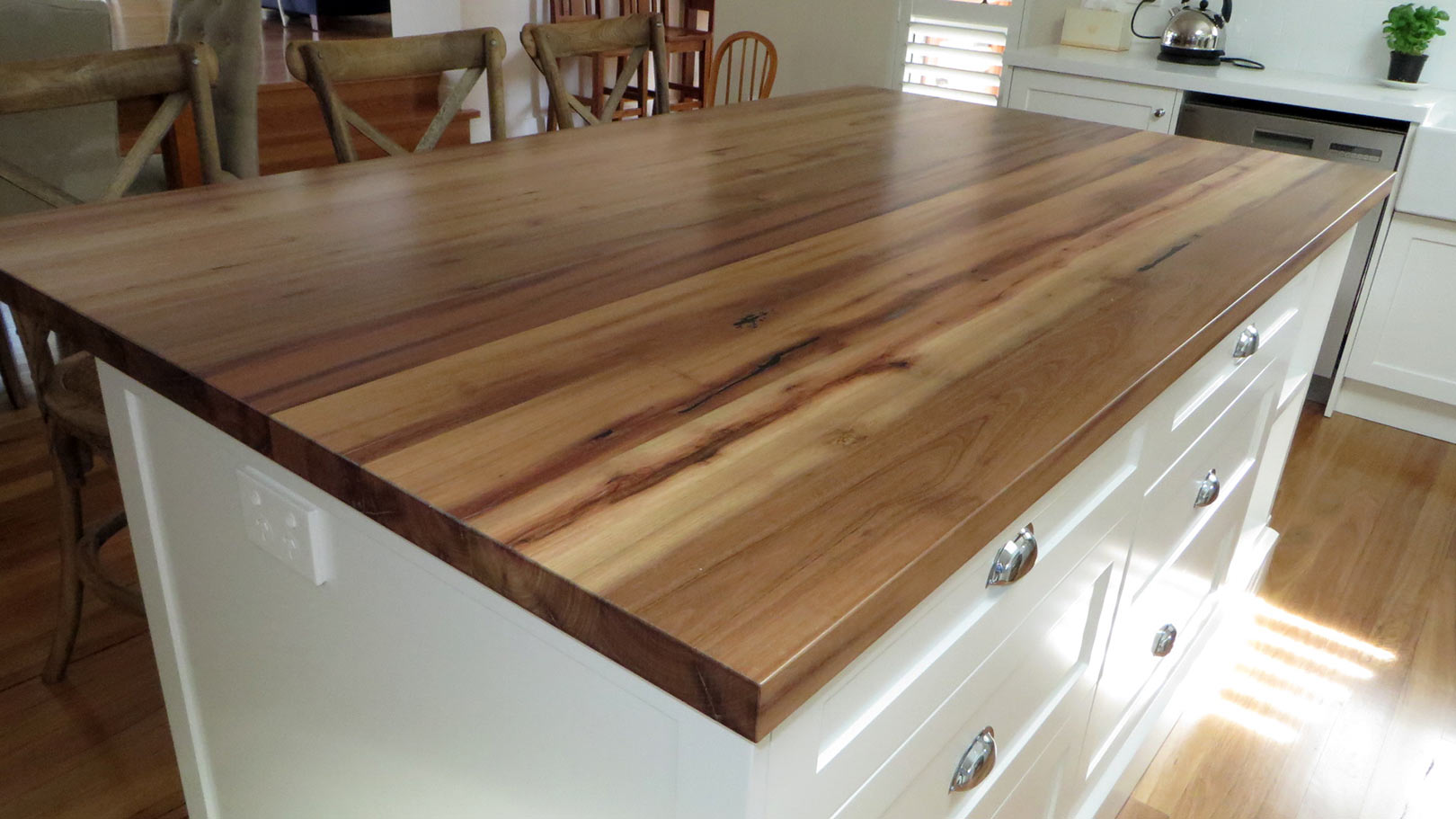 Wooden Benchtop Kitchen Recycled Timber Pty Ltd Solid Timber Benchtops