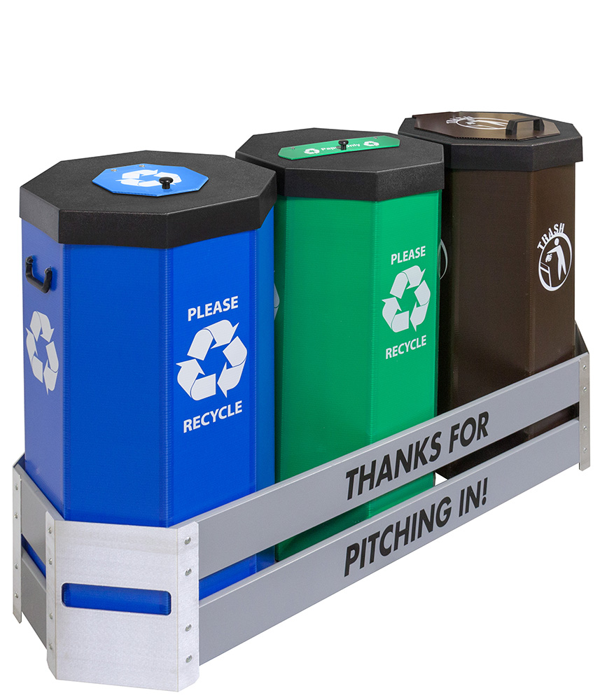 Cool Trash Bins Large Heavy Duty And 50 Gallon Recycling Bins Or Trash Cans