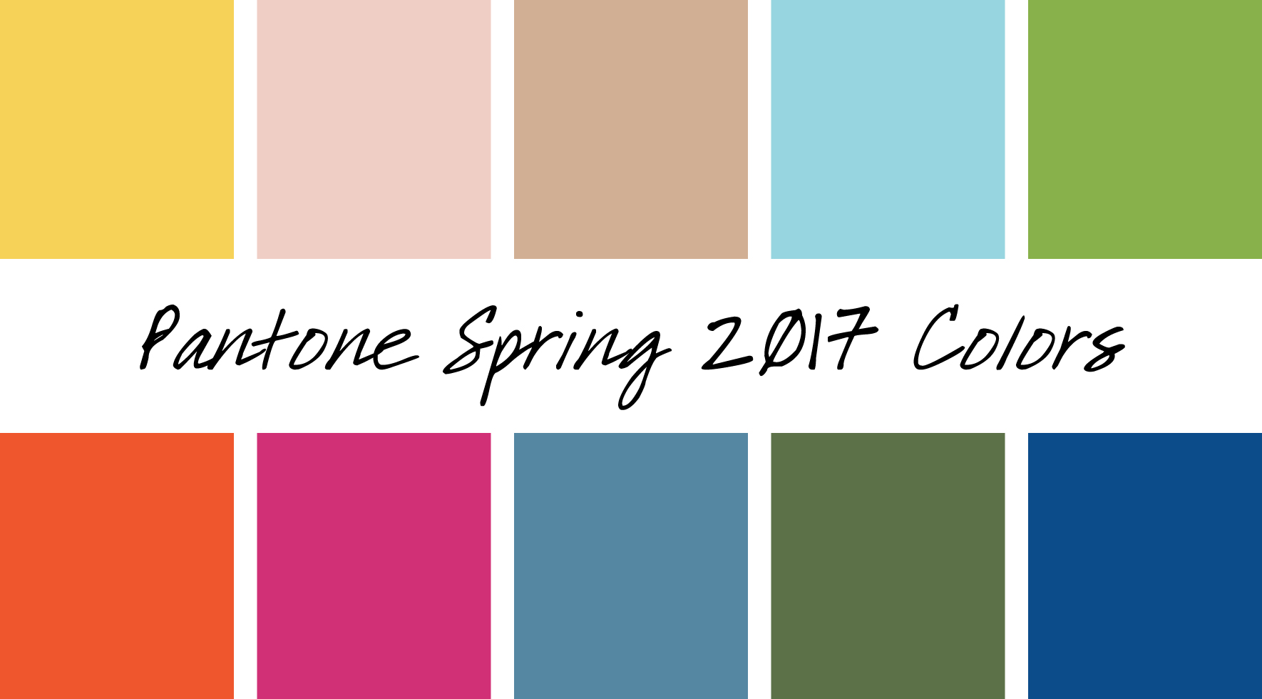 Pantone 2017 Top 10 Color Trends For Spring 2017