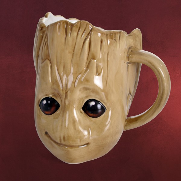 Bettwäsche Braun Guardians Of The Galaxy - Groot 3d Tasse | Elbenwald