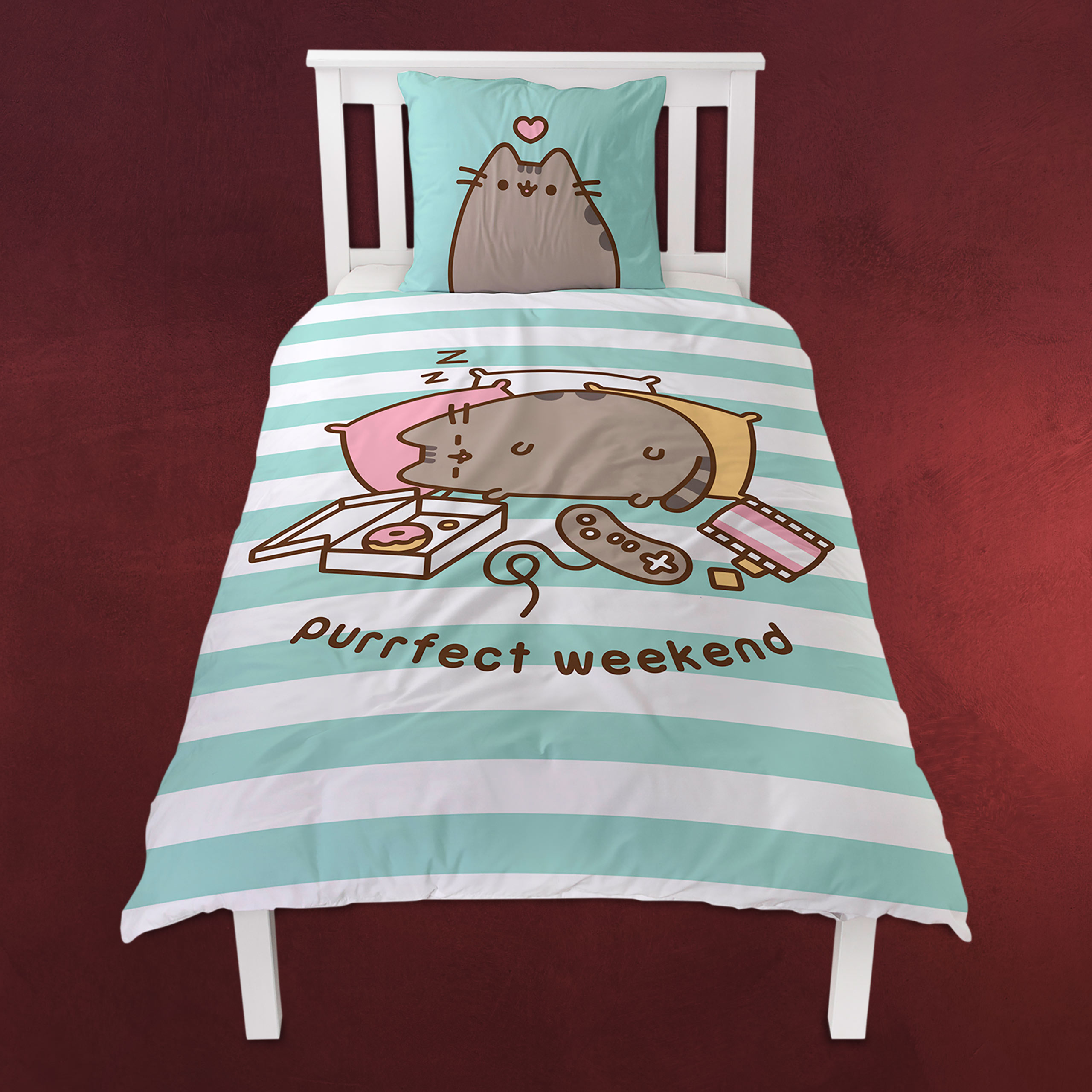 Harry Potter Hogwarts Wappen Bettwäsche Elbenwald Pusheen Purrfect Weekend Wende Bettwäsche