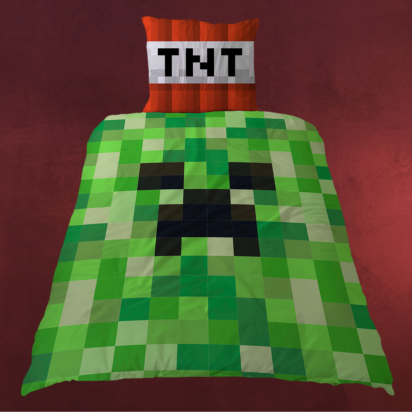 Minecraft Bettwäsche Minecraft Tnt Creeper Wende Bettwäsche