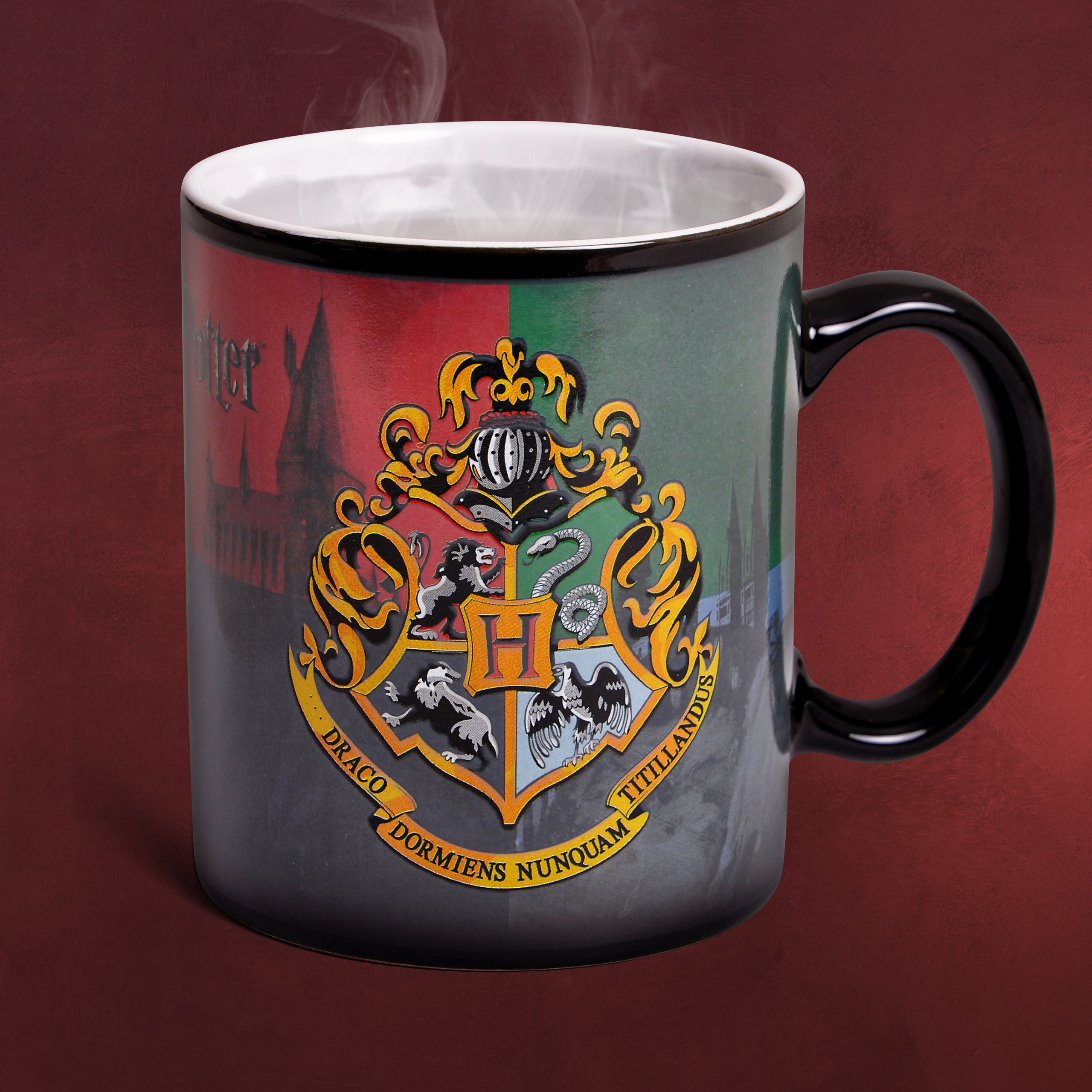 Harry Potter Hogwarts Wappen Bettwäsche Elbenwald Harry Potter Hogwarts Wappen Thermoeffekt Tasse