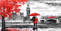 RED ART - London canvas art
