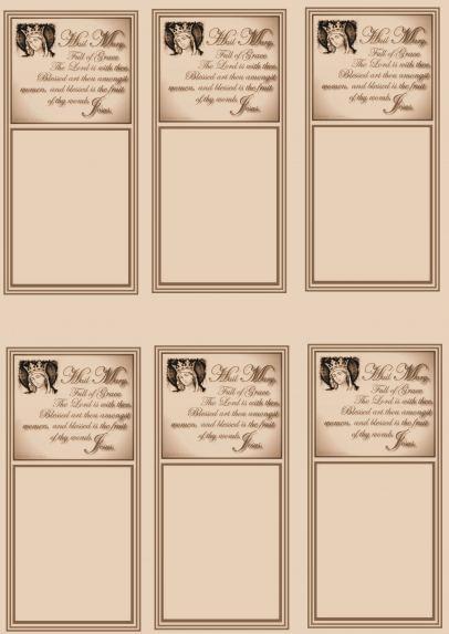 Prayer Card Sheets Bringing Catholics and non-Catholics together! - prayer card template free
