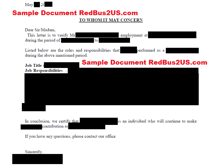 What Forms Do I Need To File For A Green Card Through Sample Employment Verification Letter From Previous