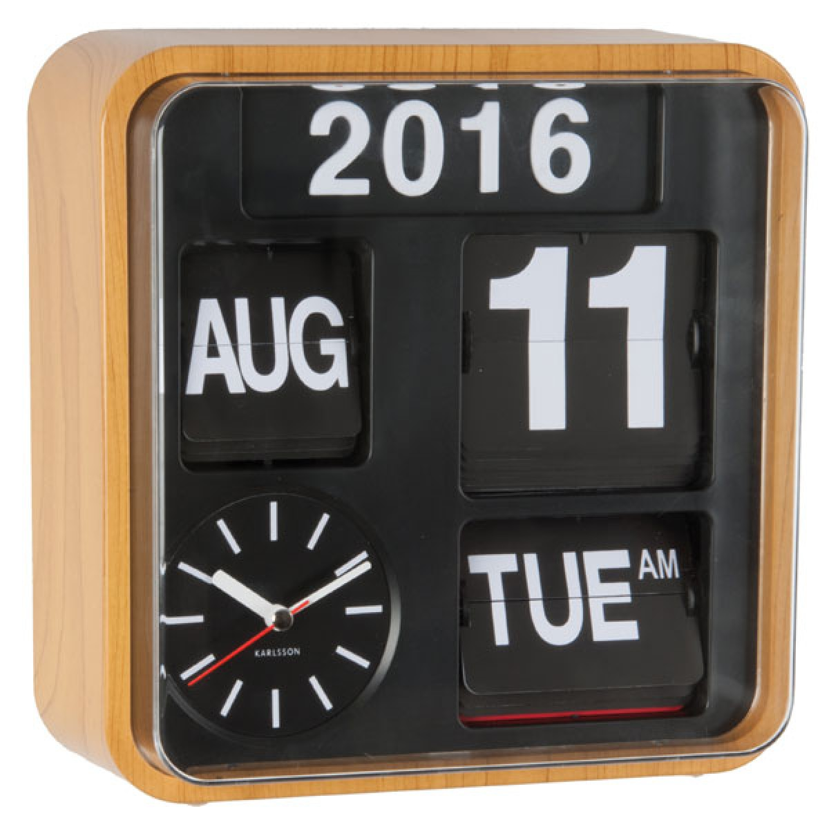 Flip Clock Karlsson Mini Flip Clock Wood
