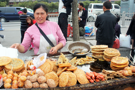Fried Snack Vendor in Chengdu
