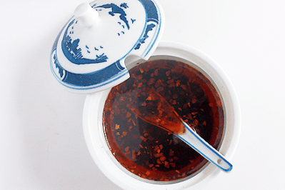 Sichuan Chili Oil in Condiment Bowl