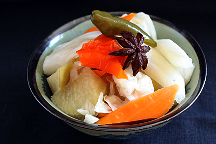 Sichuan Pickles on a Plate
