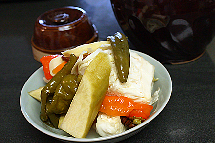 Sichuan pickles ready to eat