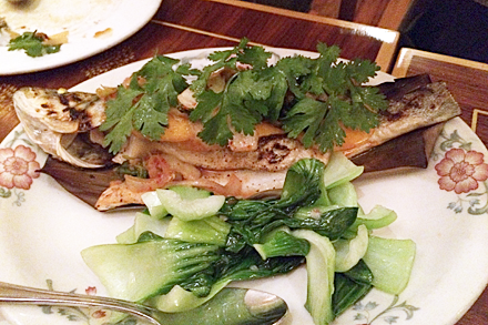 Grilled Fish with Kimchi at Purple Yam