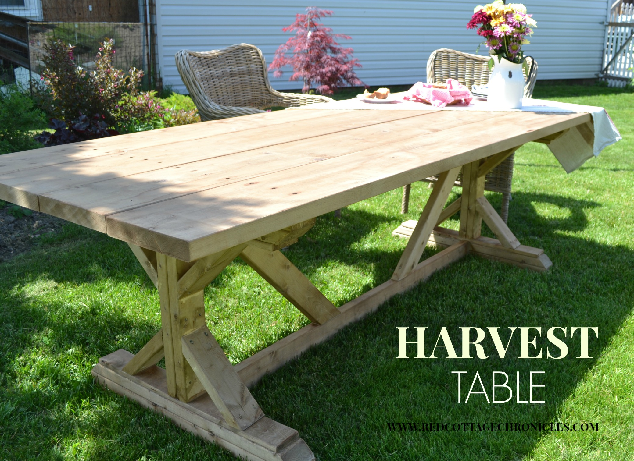 White Harvest Table Outdoor Harvest Table Red Cottage Chronicles