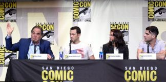 """Snowden"" panel at Comic-Con 2016 in San Diego."