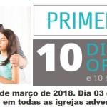 PROGRAMA COMPLETO PARA AS 10 HORAS DE JEJUM E ORAÇÃO – 2018