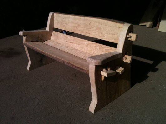 Sweet Chestnut & Oak bench