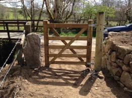 pedestrain gate and granite post