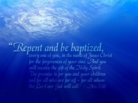 Baptism in Acts 2 38