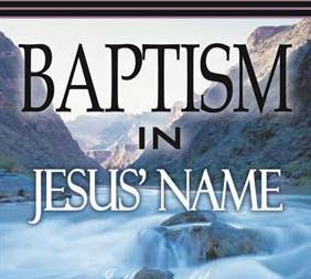 Baptism in the name of Jesus