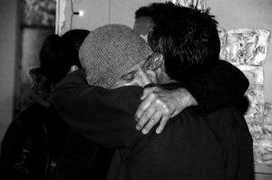 hugging the homeless