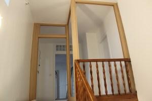 Structure de la porte vitrée du 2ème étage