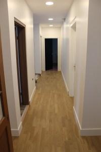 Couloir 1er étage, rénovation du parquet