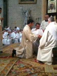 Ordination diaconale d'Antoine pour le diocèse de Dijon (2012)