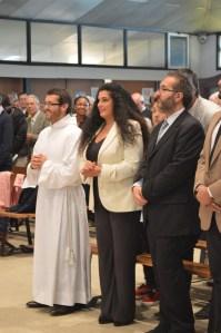 Giuseppe accompagné de sa mère et de son frère