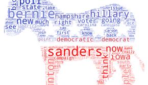Bernie Sanders TV media wordcloud. Image by Kalev Leetaru