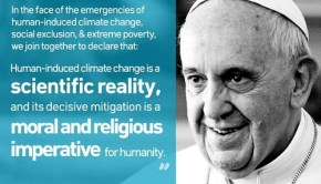 Pope Francis calls dealing with climate change a moral imperative