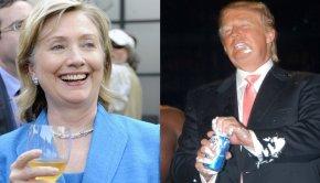 clinton vs trump drinking