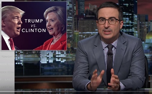 Video: John Oliver is irritated by Hillary, but OUTRAGED by Trump