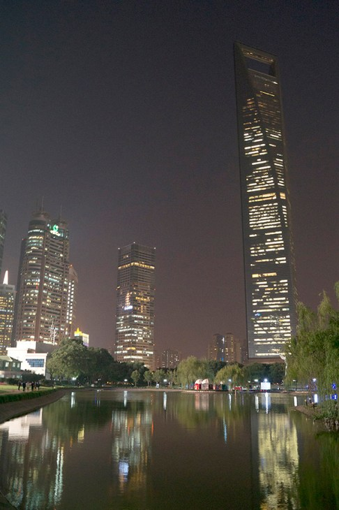Pudong nocą