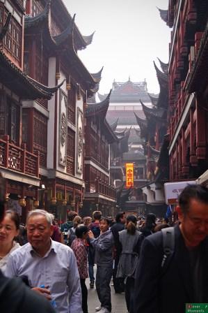 uliczka handlowa wokół Yuyuan Garden