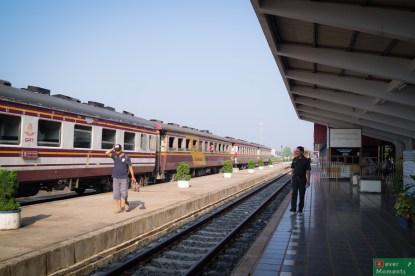 Stacja Nong Khai, przy granicy z Laosem.