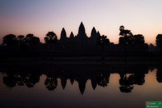 Angkor Wat o wschodzie