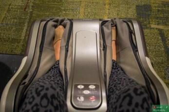 Lotnisko Changi, darmowy masaż, zmęczonych łażeniem po lotnisku, stóp