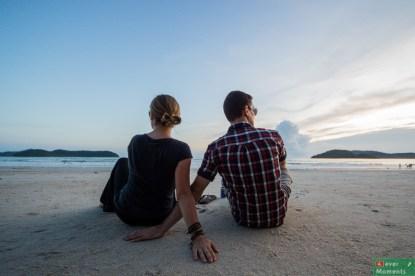 Oto i my, widzini z tyłu, bo po spacerze w pełnym słońcu Cameron Highlands przód nie prezentuje się najlepiej ;)