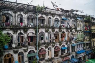 """Kolonialna"" zabudowa Rangunu"