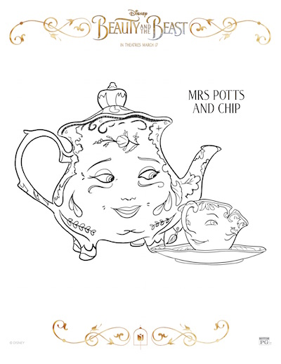 Garderobe Palette Beauty And The Beast Coloring Pages - Redhead Baby Mama