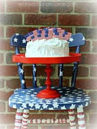 Red Cake Stand - Redhead Can Decorate
