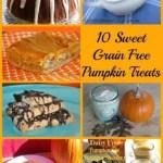 10 Sweet, Grain Free, Pumpkin Treats