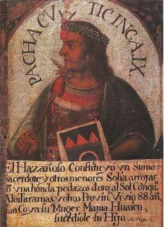 Retrato de Pachacútec en el Beaterio del Convento de la Virgen de Copacabana, Lima, Perú. Siglo XVI
