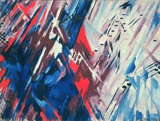 Rojo y azul, Mikhail Larionov, 1911