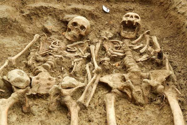 Esqueleto hallados en Leicester