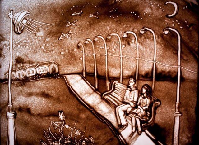 Una de las maravillosas imágenes que nos deja el arte de Simonova en el vídeo.