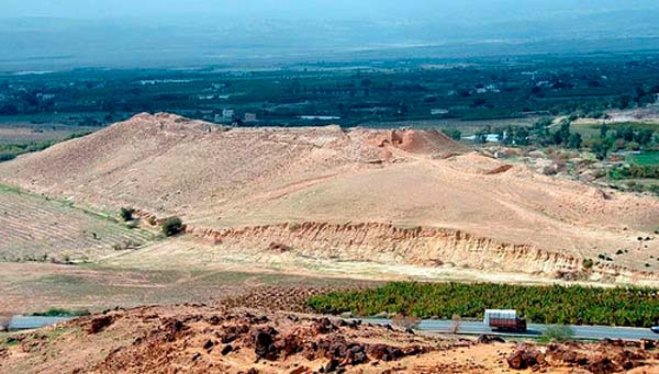 Tall el Hammam, donde podría estar la ciudad de Sodoma.