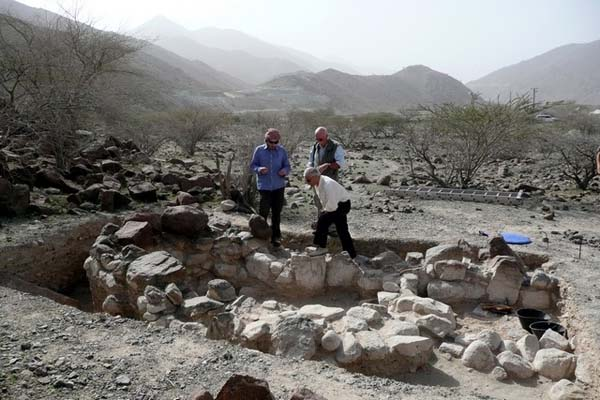Yacimiento arqueológico en el Emirato de Sharjah.